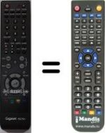 Replacement remote control Tv Tech RC791