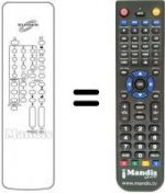 Replacement remote control MDC CTV 9220