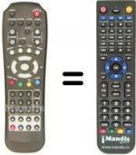 Replacement remote control SAT 5900