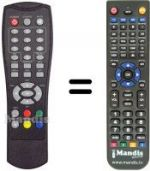 Replacement remote control GE SER DT6800