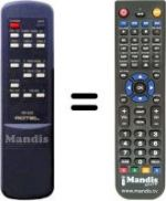 Replacement remote control ROTEL RR-930