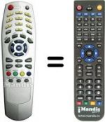 Replacement remote control Clarke Tech C-TECH1500 PLUS