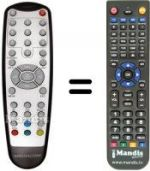 Replacement remote control MEDIACOM M-DTRSLIM