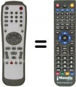 Replacement remote control LITE-ON LVW5001