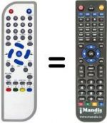 Replacement remote control MG ITEX DVBT-M3101