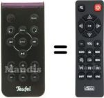Replacement remote control Teufel HVS50260